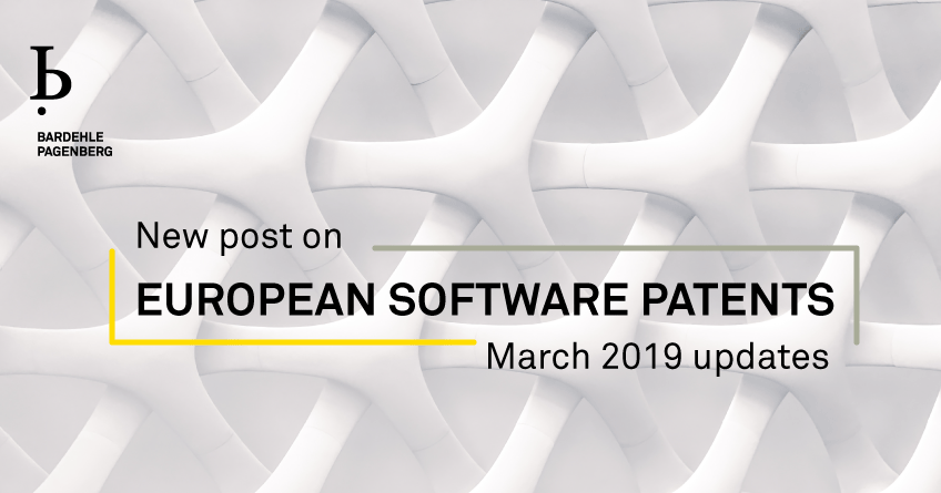 European Software Patents March 2019 Updates