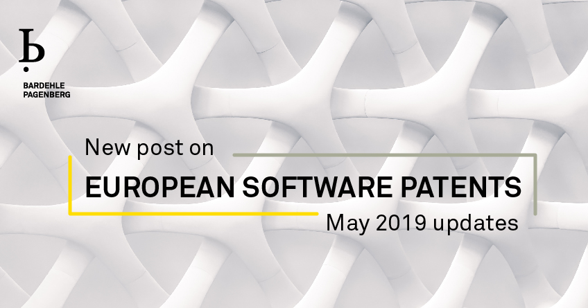 EUROPEAN SOFTWARE PATENTS May 2019 Updates
