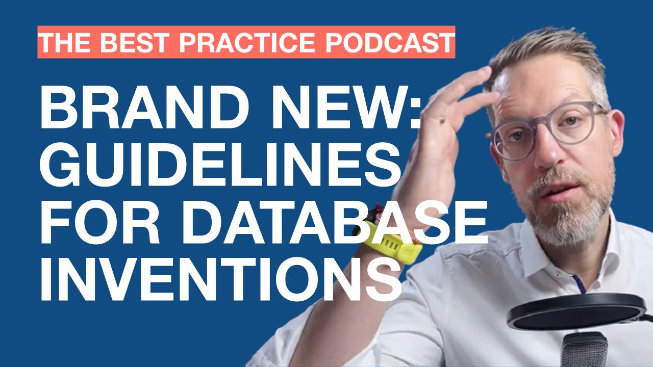 New EPO guidelines for database technology